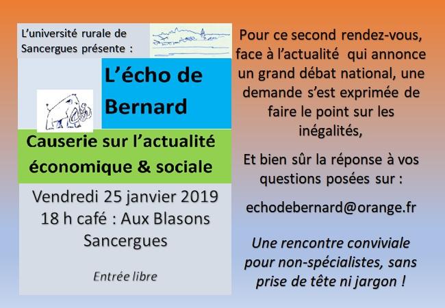 Causerie bernard 250119