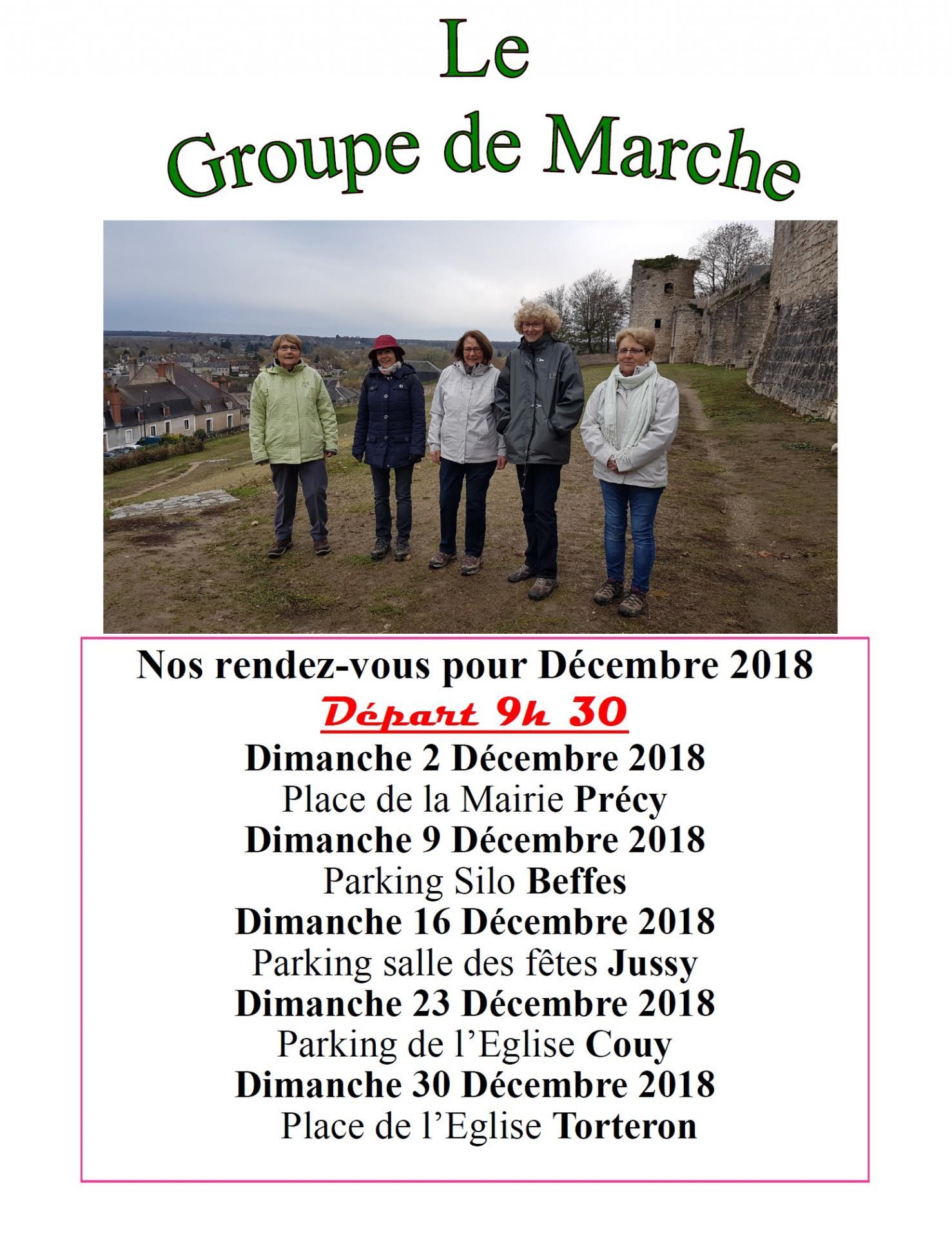 Groupe de marche dec 2018